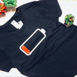 Low Battery Fitted Tee